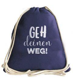 Stylischer Turnbeutel 'Geh deinen Weg!' (3er VE)