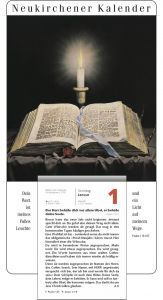 immerwährende Rückwand zum Neukirchener Abreißkalender