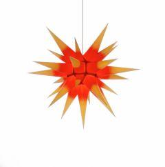 Herrnhuter Stern i6 - gelb mit rotem Kern ca. 60 cm