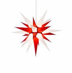Herrnhuter Stern i6 - weiss-rot ca. 60 cm