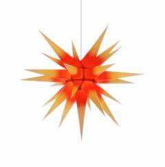 Herrnhuter Stern i7 - gelb mit rotem Kern ca. 70 cm