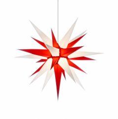Herrnhuter Stern i7 - weiss-rot ca. 70 cm