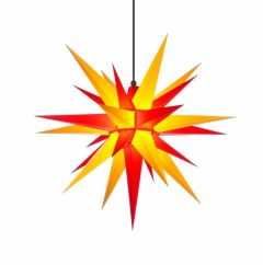 Herrnhuter Stern A7 gelb-rot ca. 68 cm