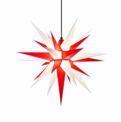Herrnhuter Stern A7 weiß-rot ca. 68 cm