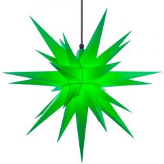 Herrnhuter Stern A7 grün ca. 68 cm