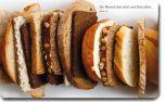 """4260175270240 Vesperbrettchen / Frühstücksbrettchen Brot """"Der Mensch lebt nicht vom Brot allein"""""""